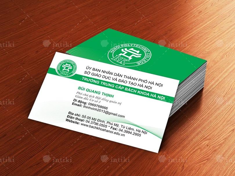 In card visit giup tang hieu qua giao dich cho doanh nghiep - In card visit và những nét cơ bản bạn nên biết