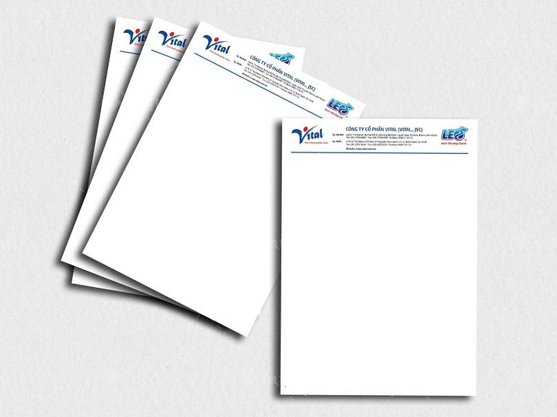 Letterhead giup xay dung mot hinh anh lam viec chuyen nghiep cho doanh nghiep - In tiêu đề thư - dịch vụ in ấn được cung ứng rộng rãi trên thị trường