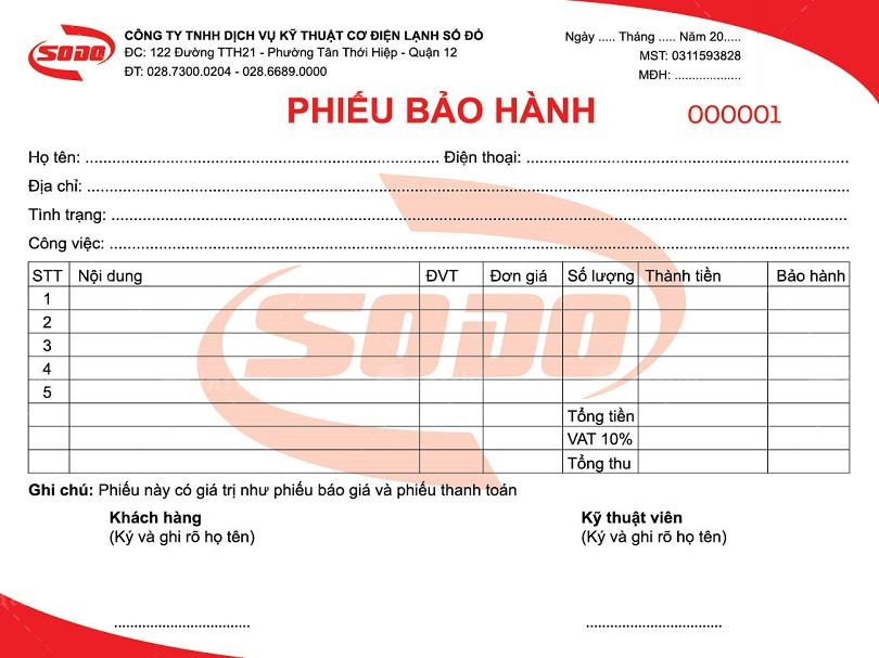 Phieu bao hanh co vai tro tac dung gi - In phiếu bảo hành - dịch vụ in ấn thu hút lượng cầu cao trên thị trường