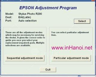 huong dan reset may in epson r230 bang phan mem ssc 1458 3 - Hướng dẫn Reset máy in Epson R230 bằng phần mềm ssc